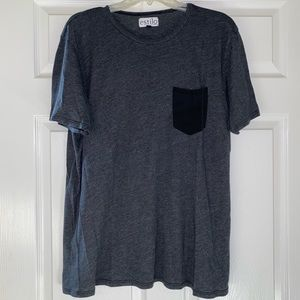 Grey T-Shirt with Darker Poket
